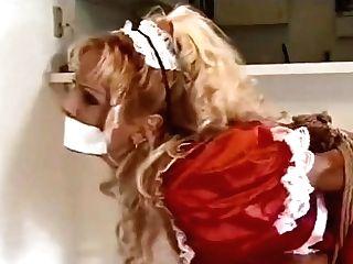 Crimson Sundress Doll Stool Tied