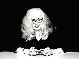 Antique Blonde Granny In Glasses Reads Arousing Antique Orgy Book