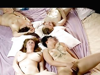 Four Antique Girl-on-girl Gfs Are Hotly Masturbating Hairy Pusses