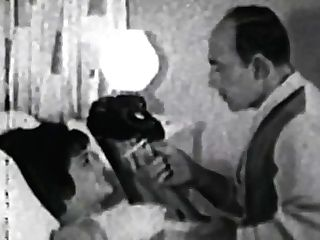 Old School Cougar Deep-throats Dick Before Doggystyle Retro Fucking