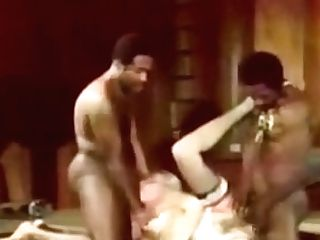 Antique Lil' Blondie & Two Big Black Cock