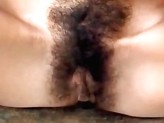 German Dark-haired With Hairy Cooter