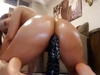 Oiled Latina Sexy Big Fuck Stick Rail